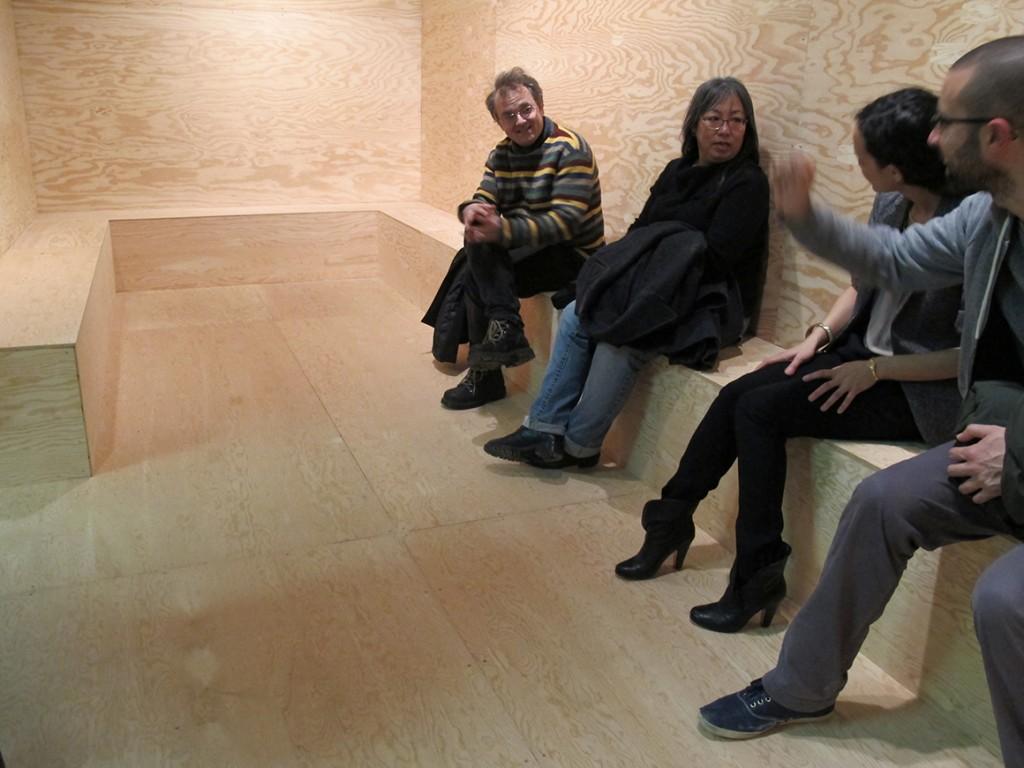 Alexandre David,Sans titre/Untitled, 2013. oeuvre in situ/In situ installation. Galerie Leonard & Bina Ellen Art Gallery, 2013.