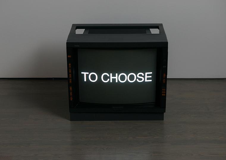 Sean Snyder, Schema (Television), 2006-2007. Vue d'installation. Galerie Leonard & Bina Ellen, Université Concordia. Photo : Paul Litherland