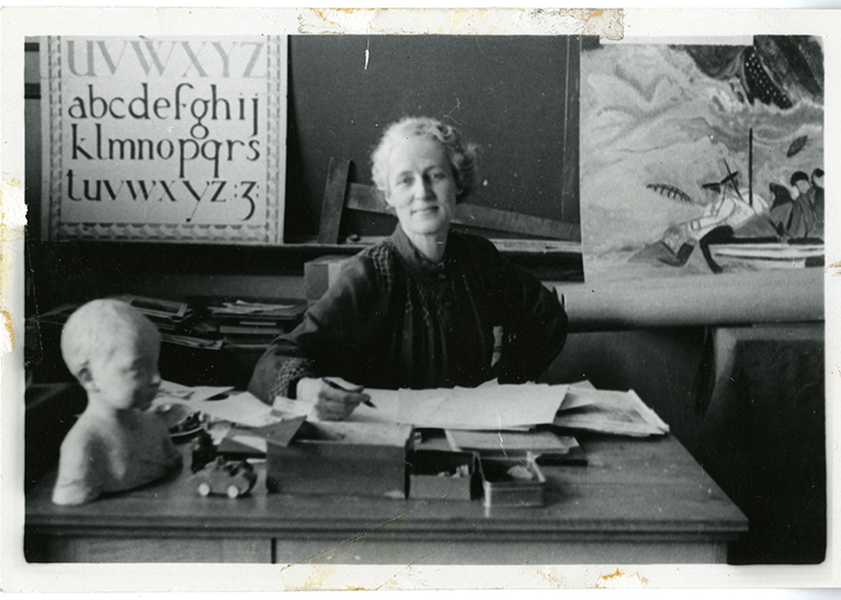 P146-06-01-17_Anne Savage at her desk_1940_MAIL